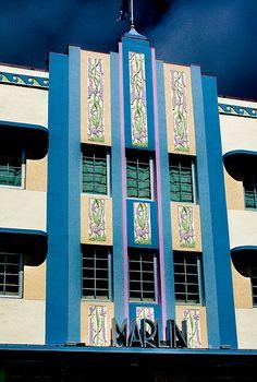Deco Hotels of South Beach 6 Art Deco Design, E Design, Architecture Details, Architecture Art, Bauhaus Art, Detail Art, Florida Style, Miami Florida, Miami Beach