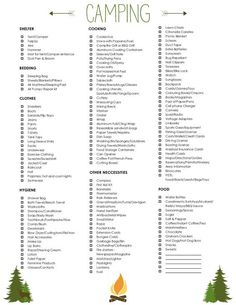 Ultimate camping checklist - great list !! More