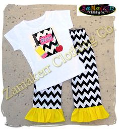 Girl Back To School Clothing Outfit Tshirt SIZE 2T 3T 4T 5T 6 7 8 24 MONTH Knit Tee Pageant 1st day of Kindergarten Preschool Top Pant Set on Etsy, $39.99