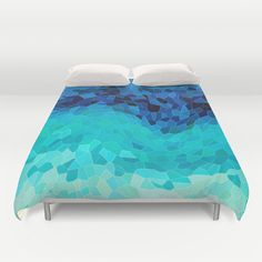 """INVITE TO BLUE"" Duvet Cover by Catspaws on Society6."