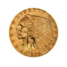 1928 $2.50 Gold Indian Quarter Eagle (AU)