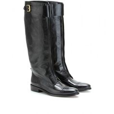 Burberry London Drayton Tall Leather Boots
