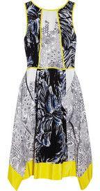 TibiPrinted crepe dress