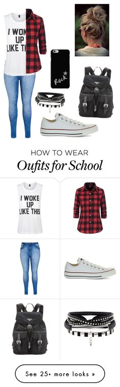 """Untitled #236"" by brookelyn96 on Polyvore featuring City Chic, Private Party, Converse and Prada"