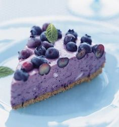 cool Blueberry Icebox Pie - SELF