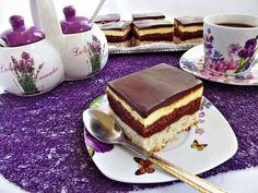 Prajitura-o-noapte-la-Venetia-4 Romanian Desserts, Romanian Food, Romanian Recipes, Sweets Recipes, Cooking Recipes, Good Food, Yummy Food, Something Sweet, Coco