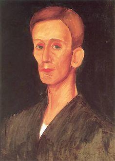 Zygmunt Waliszewski, Portrait of Józef Czapski, ca oil on cardboard, National Museum Warsaw National Museum, Warsaw, Polish, Culture, Oil, Artists, Portrait, Painting, Image