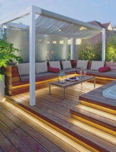 innenarchitektur : kleines terrasse gestalten hang terrasse modern, Garten Ideen