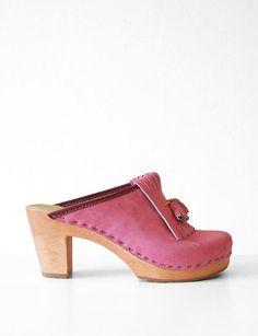 CLOG   ... of Comfort   No.6 Kilt Clog- Pink : no6 high heel clog clog clog boots