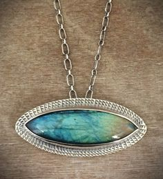 Labradorite statement necklace  evil eye necklace  eye by prox