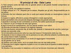 dalai lama frasi I 18 principi del Dalai Lama