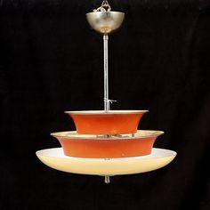 Bilder för 301926. TAKLAMPA, funkis, troligen Böhlmarks, 1930-tal. Höjd 54 cm. – Auctionet