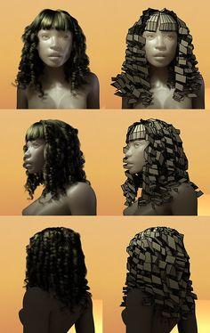 maya modeling hair - Поиск в Google