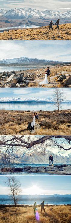 Beautiful pre-wedding shoot in New Zealand // Destination engagement shoot and honeymoon inspiration