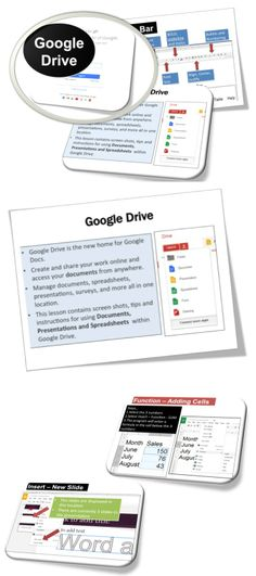 •	Google Drive is the new home for Google Docs. •	Manage documents, spreadsheets, presentations, surveys, and more all in one location. •	This lesson contains screen shots, tips and instructions for using Documents, Presentations and Spreadsheets within Google Drive.