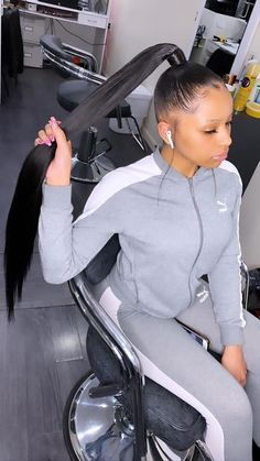 hairstyles with shaved sides hairstyles without weave hairstyles videos hairstyles medium length hair hairstyles girl hairstyles indian hairstyles 2020 hairstyles guys Slicked Back Ponytail, Slick Ponytail, Hair Ponytail Styles, Weave Ponytail Hairstyles, Permed Hairstyles, Straight Hairstyles, Curly Hair Styles, Natural Hair Styles, Long Ponytail Weave