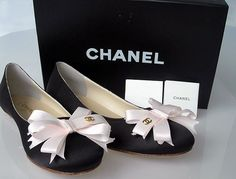 Ballet flats - no doubt!  With black leggings and a crisp white shirt or jeans and a white T.