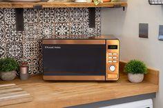Russell Hobbs RHMD804CP Copper Digital Microwave, Steel/Plastic/Glass: Amazon.co.uk: Kitchen & Home Russell Hobbs, Safe Glass, Child Safety Locks, Copper Material, Digital Clocks, Mirror Door, Microwave Oven, Copper Color