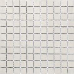 Klinker Fojs Collection Snow White Mosaic Matt 25x25 mm (298x298)