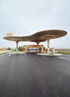Slovakian Gas Station by Atelier SAD
