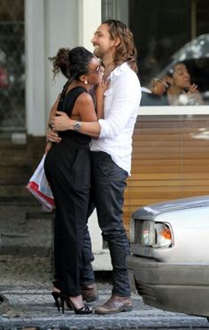 """luvrumcake: """"Igor Rickli (Brazilian Actor) and his wife Aline Wirley (Brazilian singer and actress) """" Je T'aime Encore, Interacial Love, Interacial Couples, Black Woman White Man, Black And White Love, Black Women, Mixed Couples, Couples In Love, Beautiful Love"""