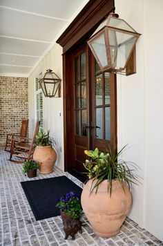 New Beautiful Front Door Flower Pots. Here You Will Find A Lot Of Pretty Cool Front Door Flower Best Front Doors, Beautiful Front Doors, Double Front Doors, Front Entry, Door Design, Layout Design, House Design, Design Ideas, Design Design