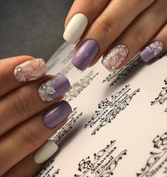 100 Charming Purple Nail Art Designs For Trendy Women - Page 5 of 20 - Nail Art Designs, Pretty Nail Designs, Tattoo Designs, Pretty Nail Colors, Pretty Nails, Spring Nails, Summer Nails, Red Nails, Hair And Nails