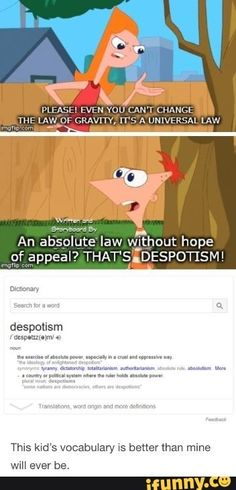 Phineas declares gravity a tyrant Phineas And Ferb Memes, Phineas Und Ferb, Phineas And Ferb Perry, Memes Humor, Dc Memes, Stupid Funny Memes, Funny Posts, Hilarious, Funny Stuff
