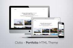 Check out Clolio - Portfolio HTML Theme by Unicorg on Creative Market