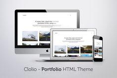 Clolio - Portfolio HTML Theme by Unicorg on Creative Market