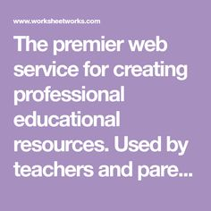 The premier web service for creating professional educational resources. Used by teachers and parents around the world. Co Teaching, Teaching Reading, Learning, Study Skills, Writing Skills, Online Math Courses, Cursive Handwriting Practice, Hourly Planner, My Father's World