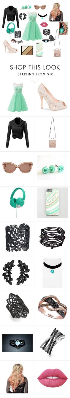 """""""Friday afternoon"""" by mgwetzel ❤ liked on Polyvore featuring Lauren Lorraine, Mackage, Skullcandy, 1928, Kenneth Jay Lane, Topshop, nOir, LE VIAN, Sevil Designs and Bling Jewelry"""
