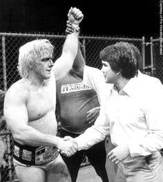 vintage WWF Rick Flair Nature boy HALLOWEEN MASK PLASTIC NOS WWE turner home