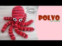 Polvo em Crochê por Carine Strieder - YouTube Octopus Crochet Pattern Free, Crochet Patterns, Crochet Toys, Knit Crochet, Preemie Octopus, Crochet Ornaments, Boho Diy, Amigurumi Patterns, Creative Crafts