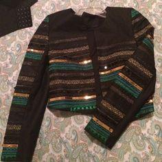 H&M jacket Black ,gold ,and green jacket H&M Jackets & Coats
