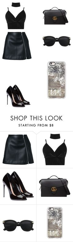 """Sin título #246"" by karenrodriguez-iv on Polyvore featuring moda, Guild Prime, Boohoo, Gucci y Casetify"