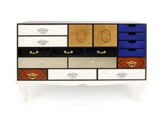 Soho Sideboard- Dinner parties become easy and elegant when served from this monumental sideboard. With simple lines and subtle details, this exquisite piece with sleek brass handles is designed to complement a variety of dining room styles or entrance halls. The attention to detail is remarkable and can be noted on this exclusive piece of furniture. This contemporary sideboard is constituted by a series of styles and typologies of drawers that count different and varied techniques.