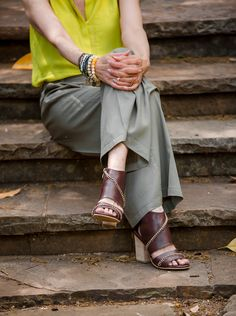 Gorgeous Debby from Fashionomics wearing our 795 D'Orsay Sandals