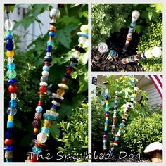 Glass bead garden stakes