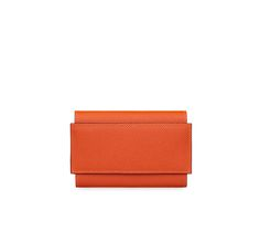 "Passant Hermes compact wallet in Epsom calfskin with leather flap and loop Removable card holder and zipped coin purse<br />Measures 5.7"" x 3.5"""