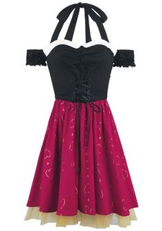 Red Queen Sweetheart Dress - Korte jurk van Alice In Wonderland