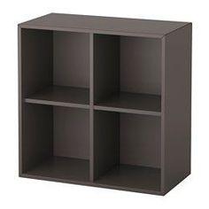 EKET dark grey, Cabinet combination with feet, Width: 70 cm Height: 72 cm - IKEA Eket, Shelf Unit, Unexpected Storage, Wall Mounted Shelving Unit, Storage Spaces, Wall Mounted Shelves, Storage Furniture, Shelving Unit, Affordable Bookshelf