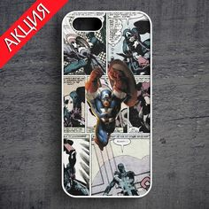 """Captain America"" Case for iPhone 4/4S, 5/5S, 6. Worldwide shipping. Store's url http://vk.com/market-71763847"