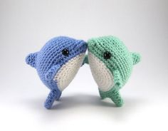 Pearl the Dolphin PDF Crochet Pattern by Critterbeans on Etsy