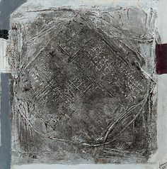 Ahti Lavonen: Hopeinen vinoneliö, 1967, öljy ja sekatekniikka kankaalle, 100x100 cm - Bukowskis
