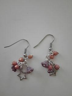 Korálkové náušnice s hvězdičkami. Beaded earrings.