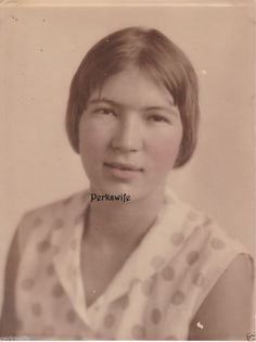 Hand Tinted Studio Photograph Woman Vintage Original Photo Fashion Tinted Cheeks