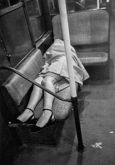 """last-picture-show: """" """"Stanley Kubrick, Woman Sleeping on a Subway Train, New York, 1946 """" """" Full Metal Jacket, Art And Illustration, Black White Photos, Black And White Photography, Vintage Photographs, Vintage Photos, Stanley Kubrick Photography, Nex York, Grosse Fatigue"""