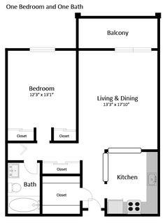 1br 1ba 1 floorplan