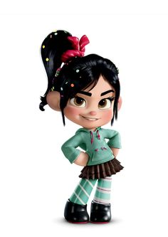 Wreck it Ralph,  Vanellope Von Schweetz = cutest disney character EVER!